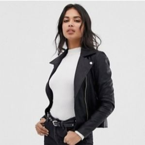 NEW Vegan Leather Motorcycle Jacket L
